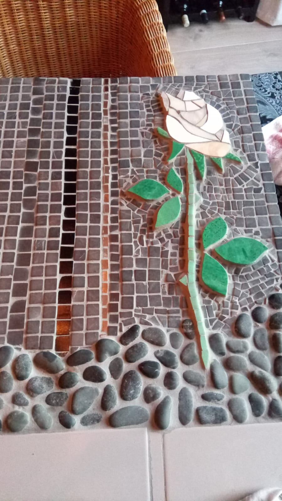 gedenkteken witte roos